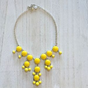 Jewelry - Canary Yellow and Silver Costume Necklace